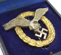 Cased Luftwaffe Pilot/Observer Badge by FLL