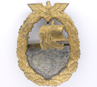 Auxiliary Cruiser War Badge by Bacqueville