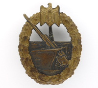 Navy Coastal Artillery Badge by C. E. Juncker