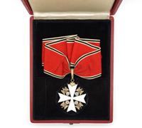 Cased 1st Class Eagle Order Neck Cross by Godet