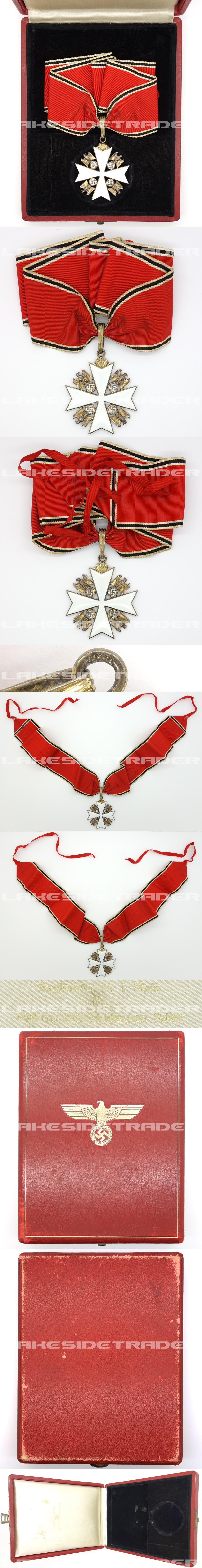 Cased 1st Class Eagle Order Neck Cross by Godet