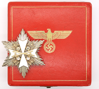 Cased Eagle Order Star with Swords by Godet