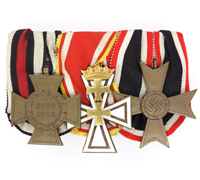Danzig Cross on Three Piece Medal Bar