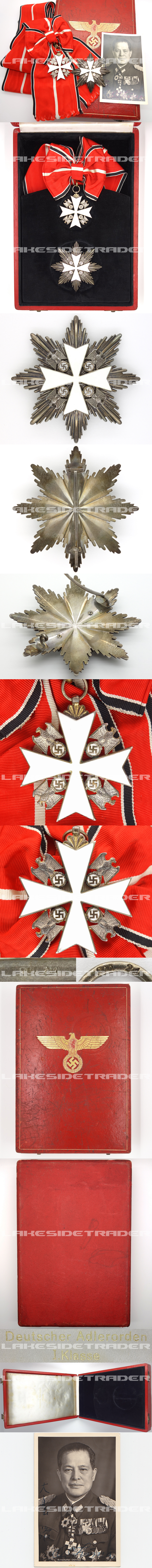 Cased 1st Class Order of the German Eagle by Godet
