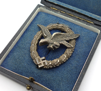 Cased Luftwaffe Air Gunner Badge by BSW