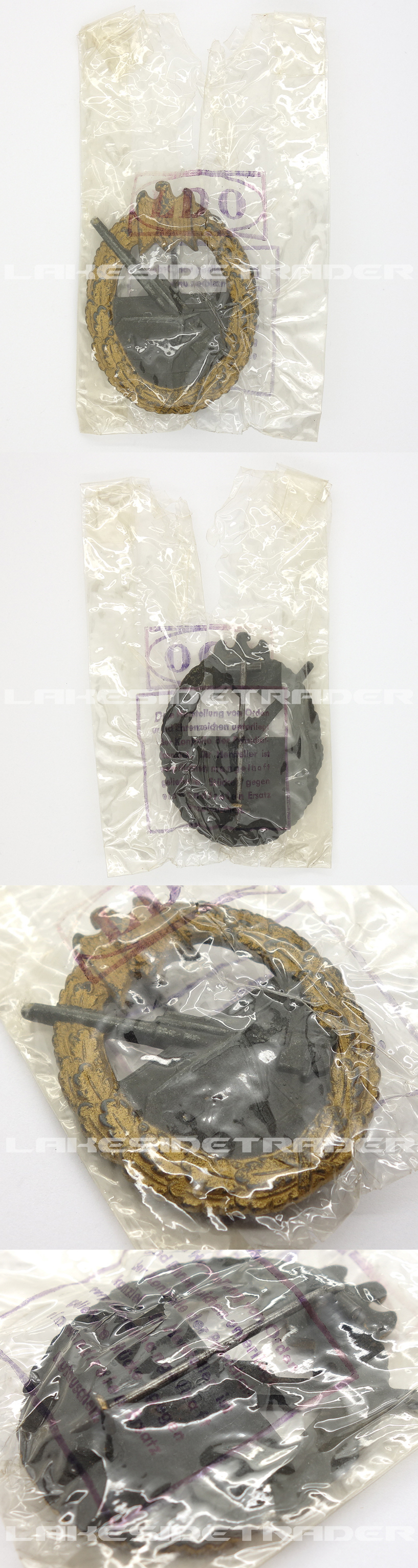 LDO Cellophane Package – Navy Coastal Artillery Badge by FLL 43