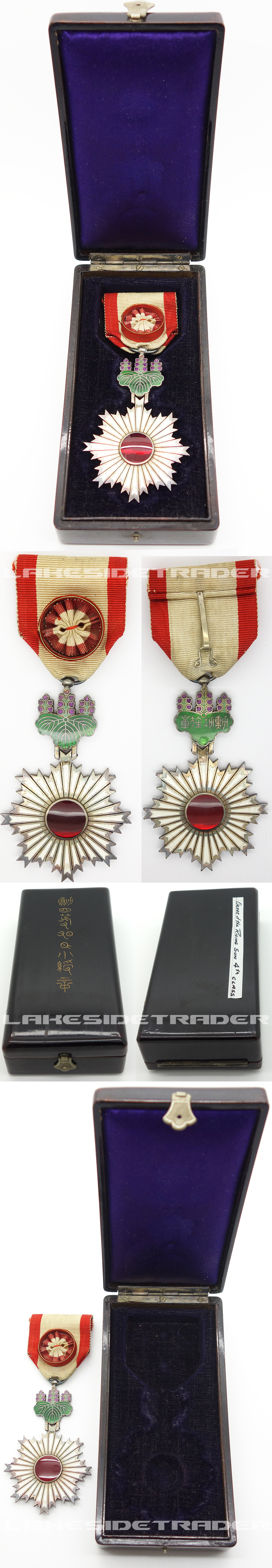Cased Order of the Rising Sun 4th Class