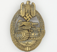 Bronze Panzer Assault Badge by Unknown Maker IV