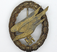 Luftwaffe Paratrooper Badge by Assmann Thin-wreath