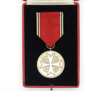 Cased German Eagle Order Medal of Merit in Silver 1937