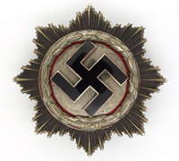 Heavy German Cross in Silver by Deschler & Sohn