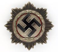 Heavy German Cross in Silver by Deschler & Sohn