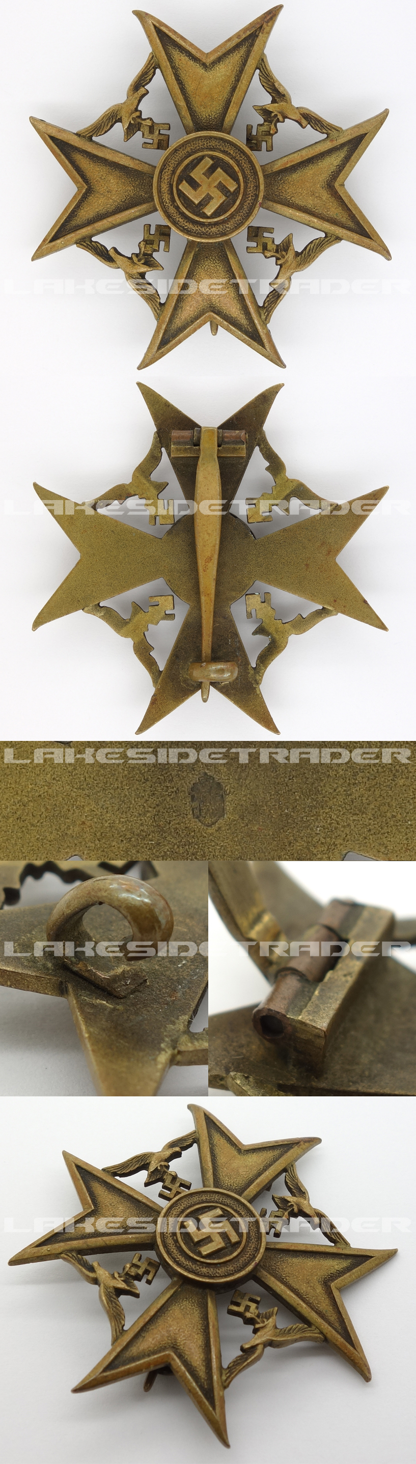 Bronze Spanish Cross by P. Meybauer