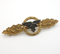 Luftwaffe Transport and Glider Clasp in Gold