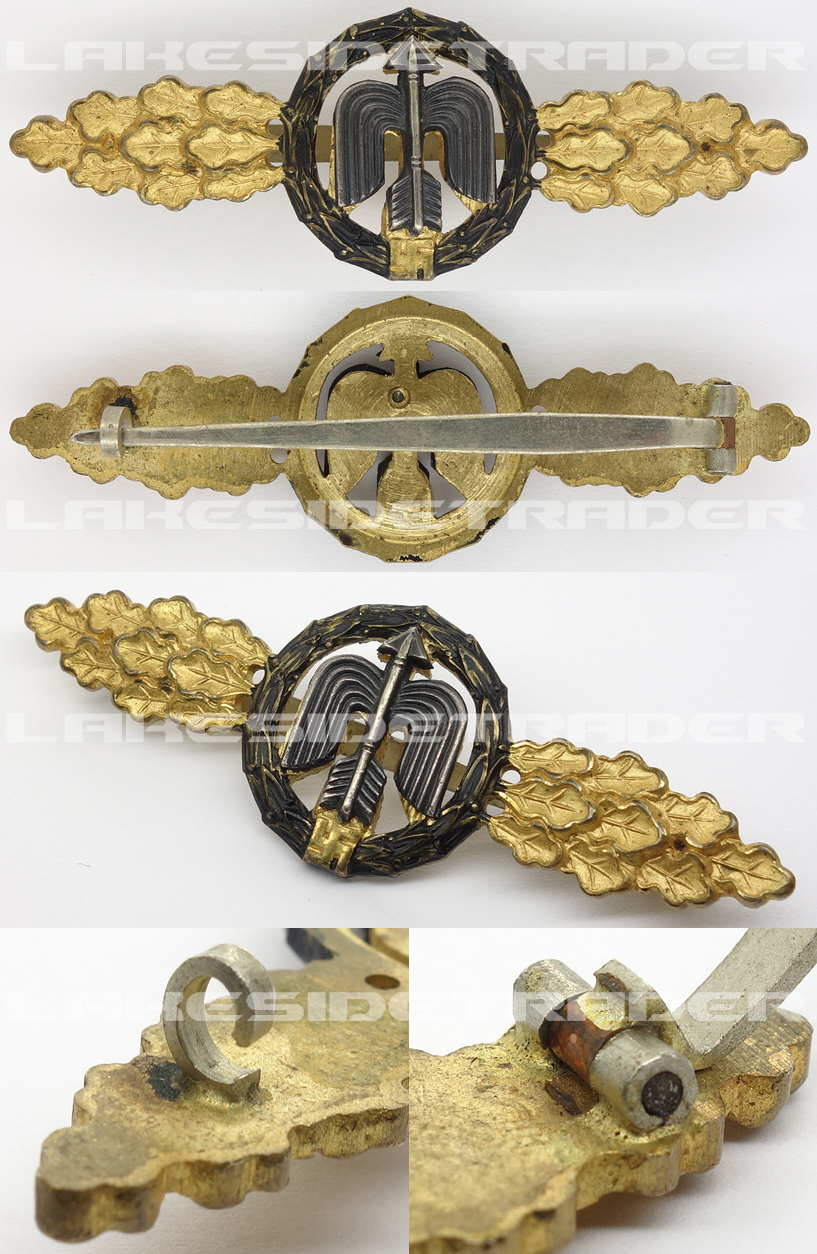 Luftwaffe Short Range Night Fighter Clasp in Gold
