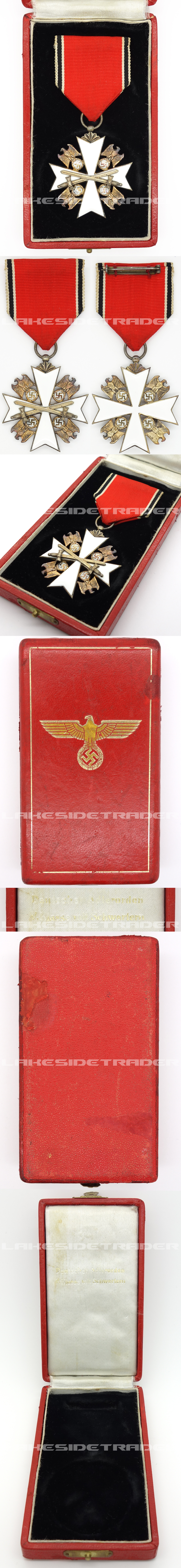 Cased German Eagle Order 5th Class with Swords 1939 by Godet