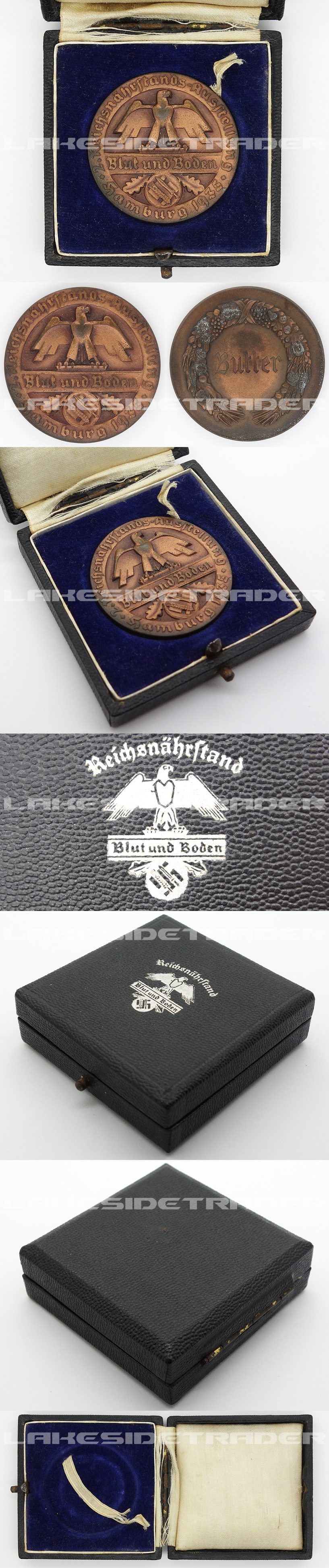 "Cased ""Blut und Boden"" Honor Commemorative Medal 1935"