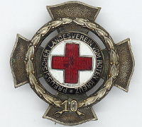 Prussian 10 year Red Cross Service Award by Godet