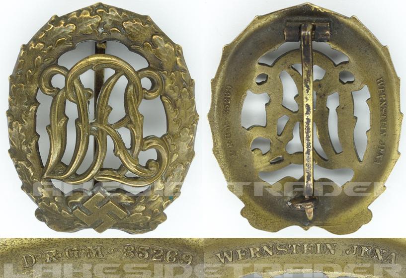 DRL Sports Badge in Bronze by W. Jena