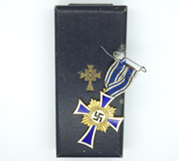 Cased Mothers Cross in Gold by Godet