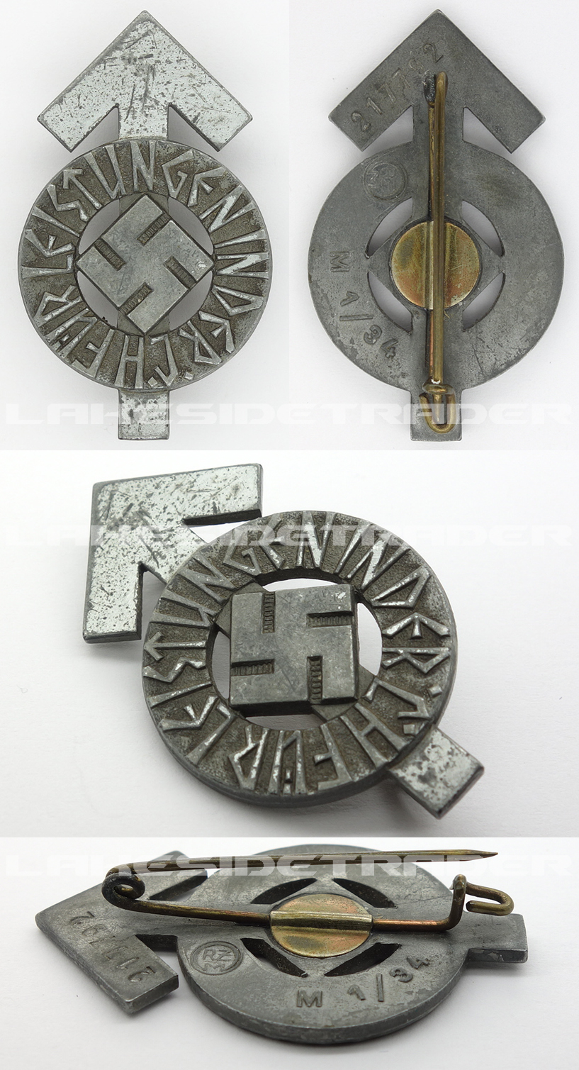 Silver HJ Proficiency Badge by RZM M1/34