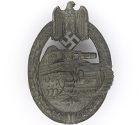 Silver Panzer Assault Badge by Frank & Reif