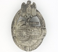 Silver Panzer Assault Badge by R.S.