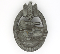 Silver Panzer Assault Badge by K. Wurster