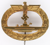 Navy U-Boat War Badge by Otto Schickle