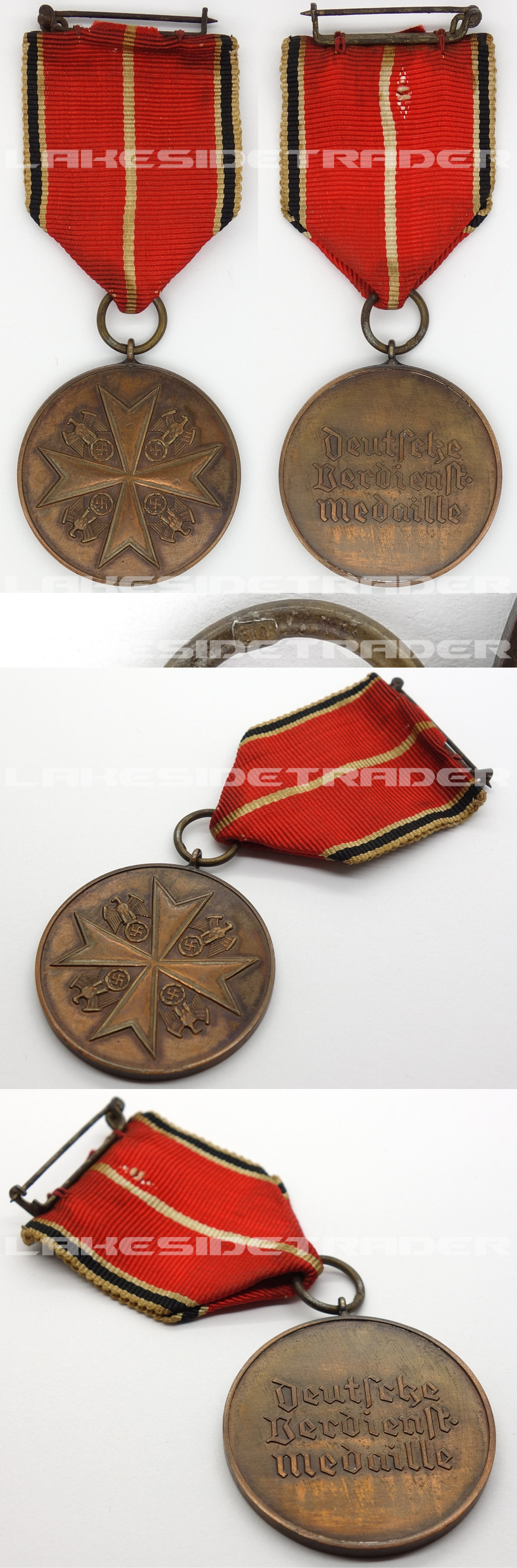 German Medal of Merit in Bronze 1937 by 30
