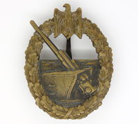 Navy Coastal Artillery Badge by C. E. Juncker