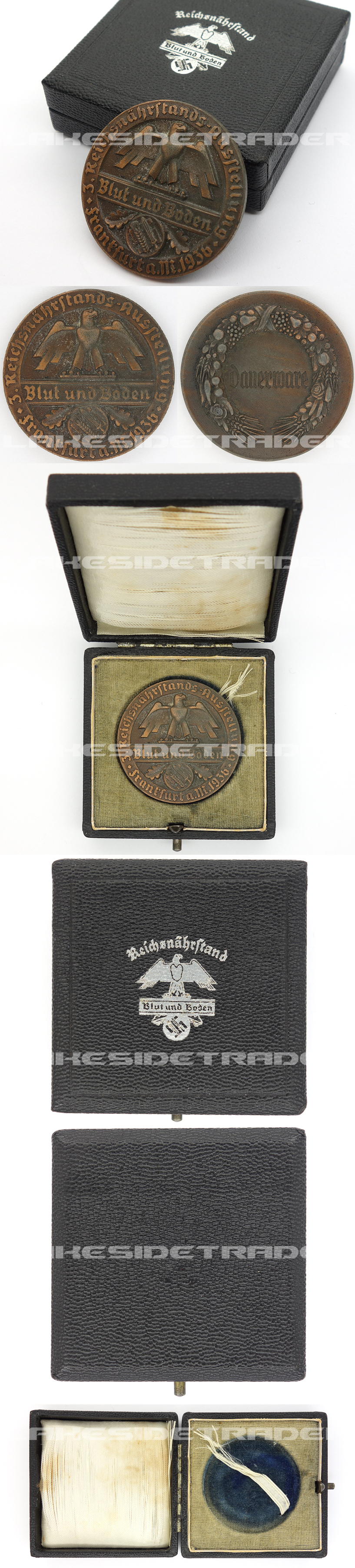 "Cased ""Blut und Boden"" Honor Commemorative Medal 1936"