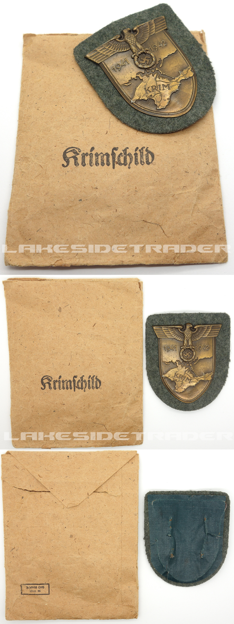 Army Krim Campaign Arm Shield by F. Orth in Issue Packet