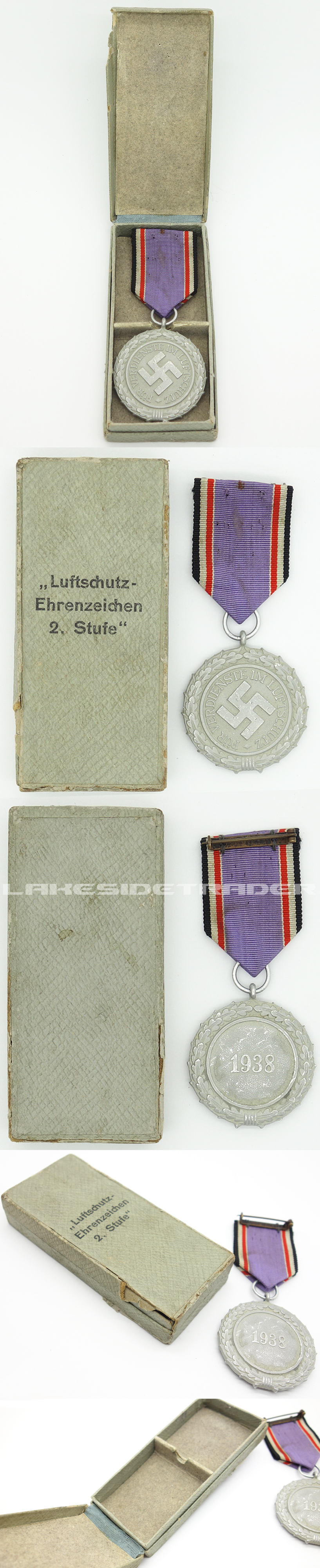 Cased 2nd Class Luftschutz Medal