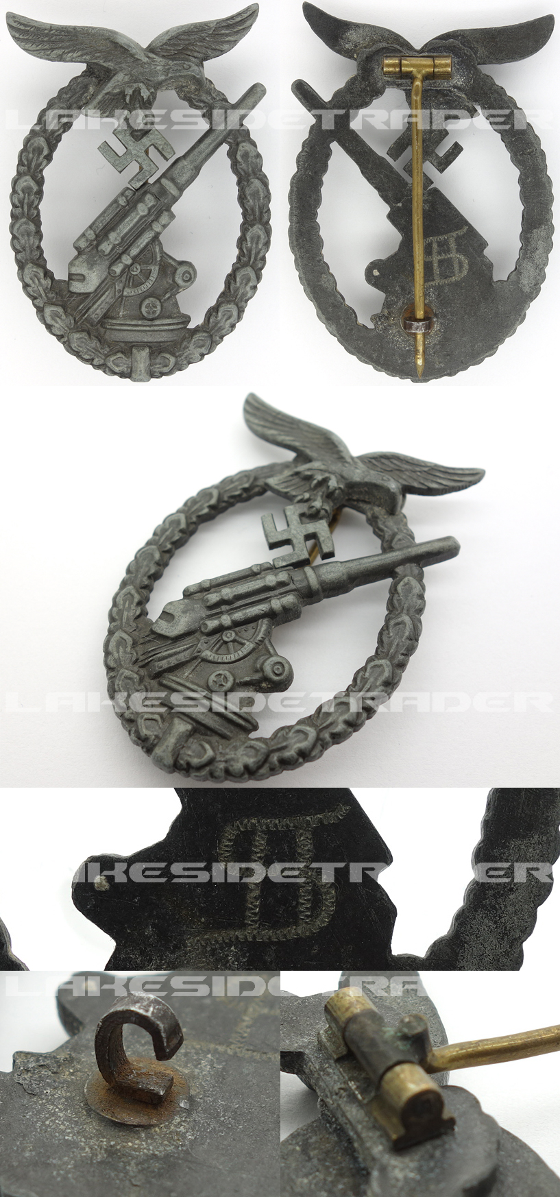 Personalized J3 – Luftwaffe Flak Badge by Juncker