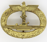 Navy U-Boat Badge by Schwerin