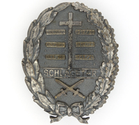 2nd Type – Schlageter Commemorative Badge with Swords by P. Küst