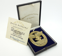 NSFK Gliding Competition Award Medallion, Case & Certificate 1939