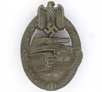 Bronze Panzer Assault Badge by F. Wiedmann