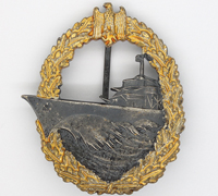Navy Destroyer Badge by Steinhauer & Luck