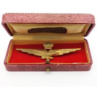 Cased Italian Fascist Pilot Qualification Badge