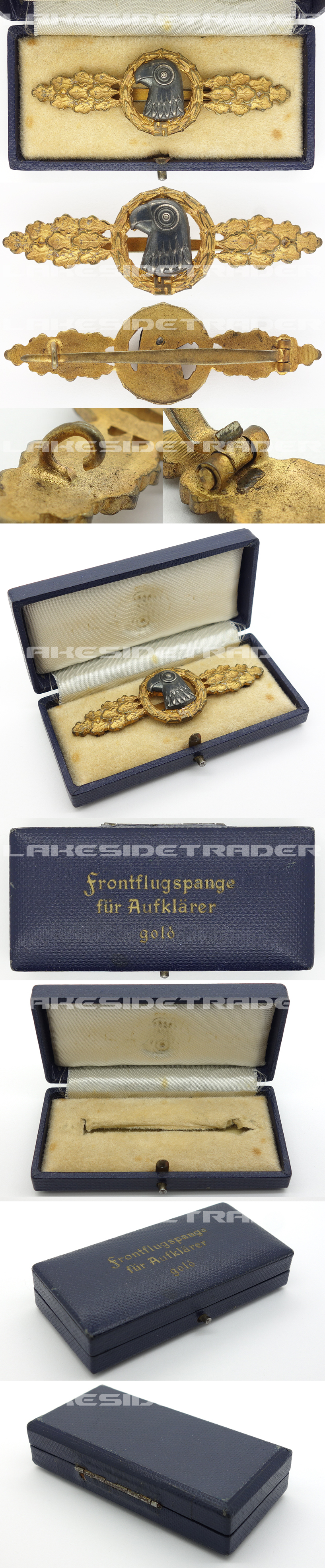 Cased Luftwaffe Reconnaissance Clasp in Gold