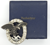 Cased Luftwaffe Observer Badge by W. Deumer