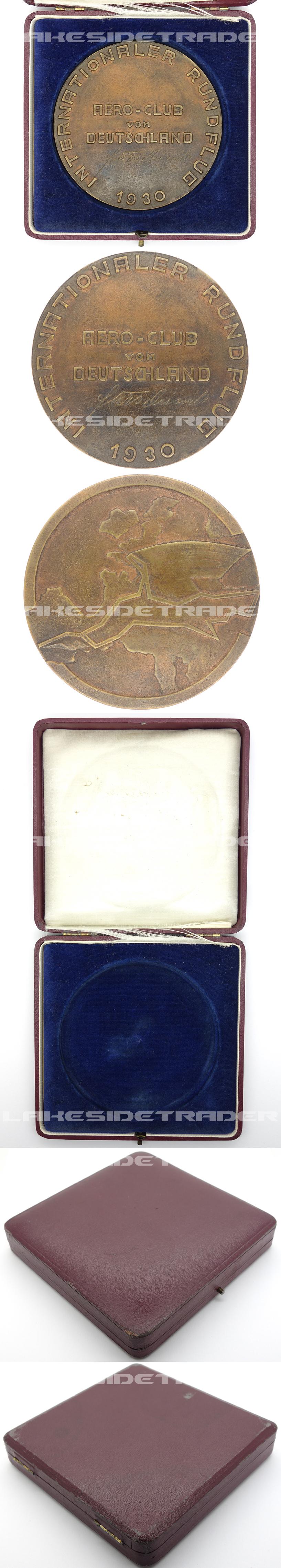 German Cased Aero-Club Medallion 1930