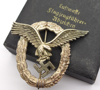 Cased Luftwaffe Pilot Badge by GWL