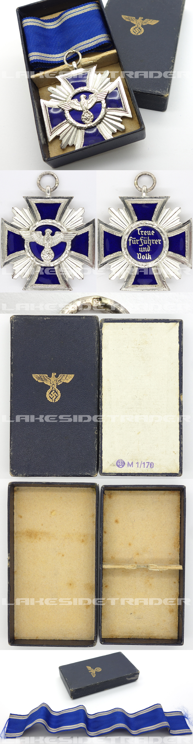 Cased NSDAP 15 Year Long Service Award by B.H. Mayer