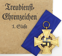 40 Year Faithful Service Cross in Packet by Deschler