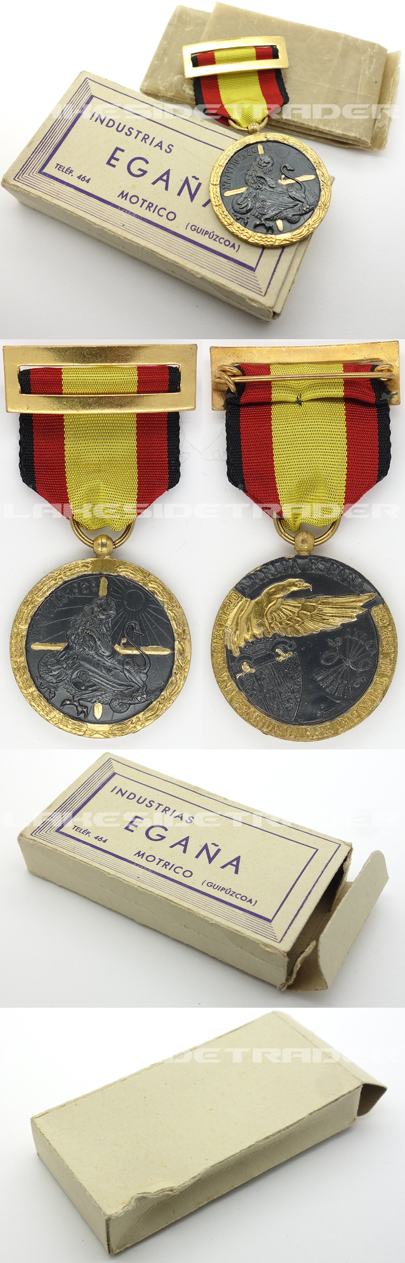 Cased Spanish Civil War Campaign Medal 1936-39 by I. Egaña