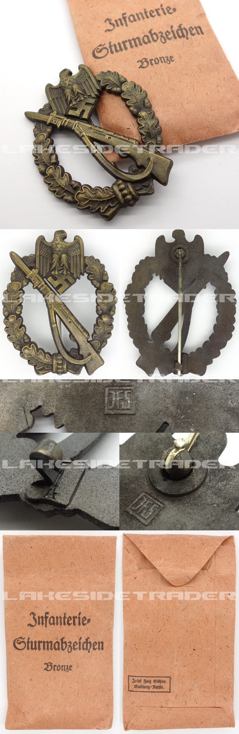Issue Packet – Bronze Infantry Assault Badge by JFS