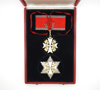 Order of the German Eagle Neck Cross and Star with Swords by L/50
